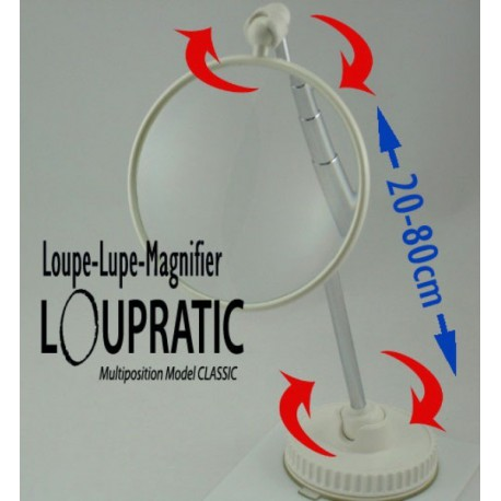 "Magnifying Glass Mutliposition Hands Free 3x LOUPRATIC ""Classic"""