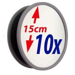 Grosser UNZERBRECHLICHER Vergrösserungsspiegel 10x oder 6x