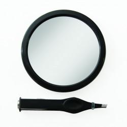 Petit miroir grossissant 12x avec pince à épiler LED