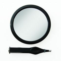 EZ-GRIP - Piccolo specchio ingrandente 12x con pinzette luminosa