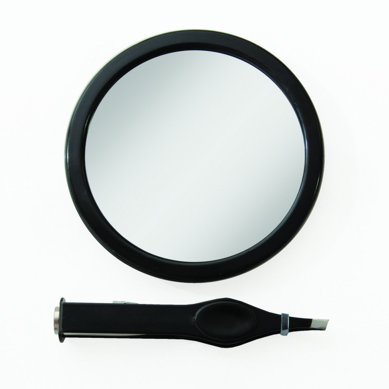 Petit miroir grossissant 12x avec pince piler led for Petit miroir