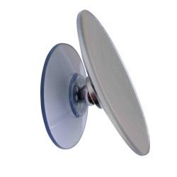 Espejo que agranda 10x - Diámetro 11cm - Grande ventosa con rótula magnética