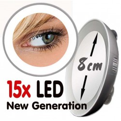 "Magnifying mirror 10x or 15x LED ""Next Generation"""