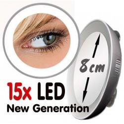 """Specchio ingrandente 10x o 15x con luce LED """"Nuova Generazione"""""""