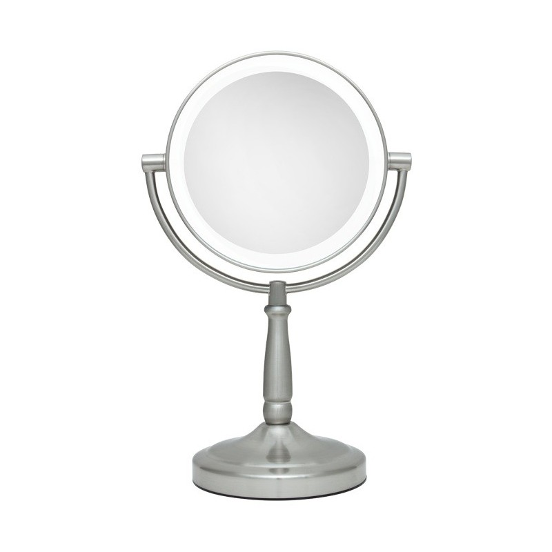Big lighted stand mirror 1x and 5x led vanity mirror for Large stand up mirror