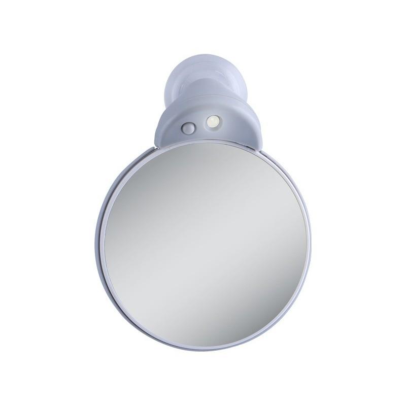Doble espejo de aumento 5x 10x con luz led for Espejo aumento con luz