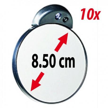 Kleiner Vergrösserungsspiegel 10x mit LED Licht - ZADRO