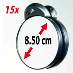 Pequeño espejo de aumento de 15x con luz LED - ZADRO