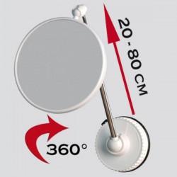 Miroir grossissant x10 ou x6, multi-orientation, sur pied ou mural