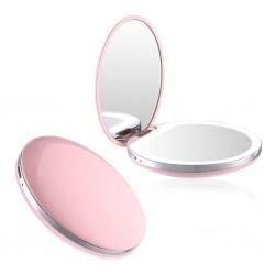 Double miroir de poche LED et USB 3x - COMPACT