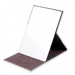 Normal metal mirror with leather case