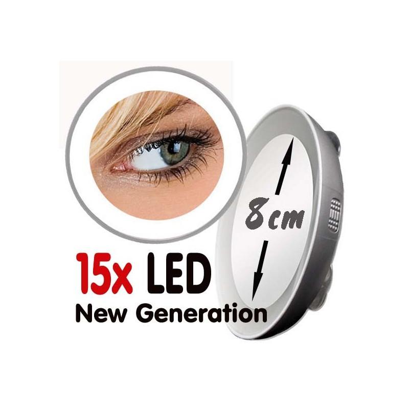Espejo de aumento de 10x o 15x led nueva generaci n for Espejo aumento con luz