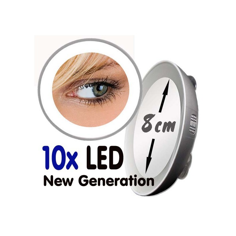 Magnifying Mirror 10x Or 15x Led Next Generation
