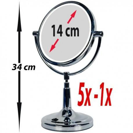"""Grand miroir grossissant avec pied 1x et 5x et LED """"Vanity Miroir"""""""
