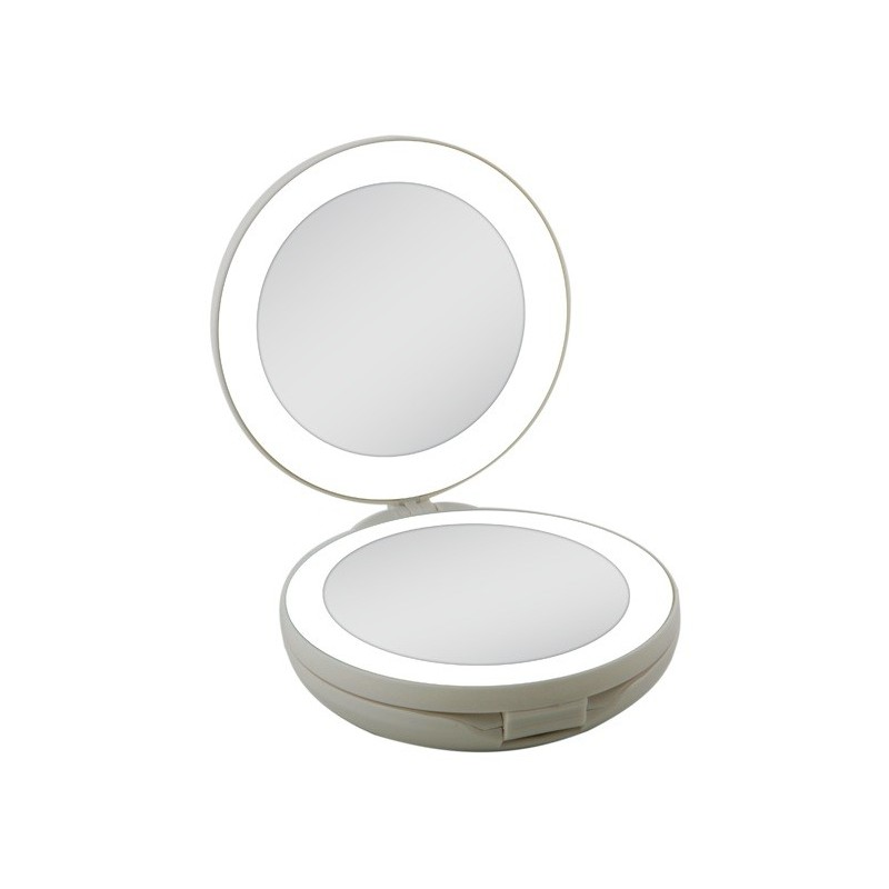 Double travel mirror 1x and 10x next generation zadro for Miroir grossissant x10