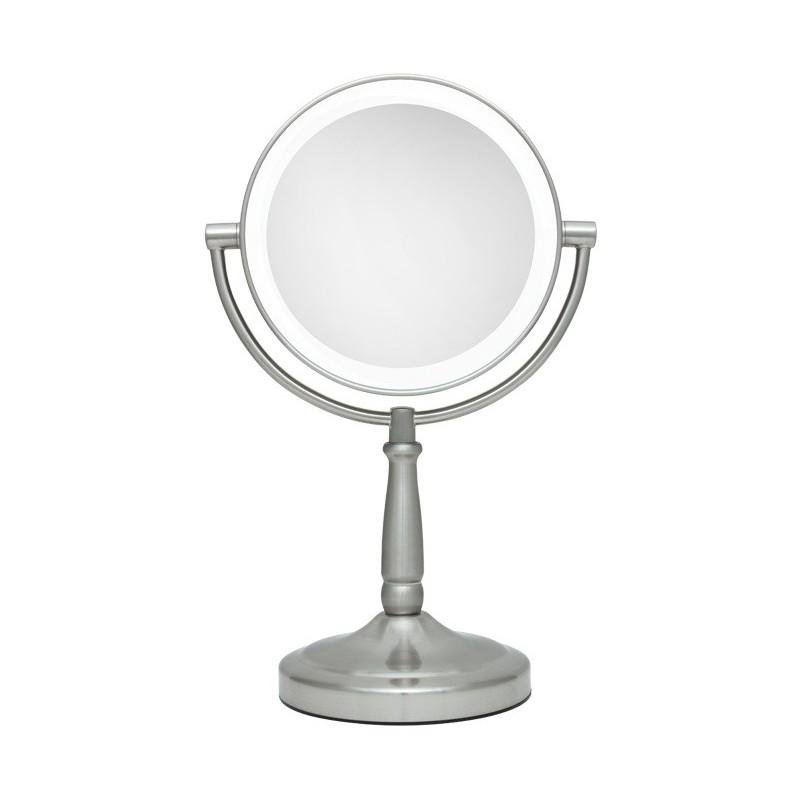 Grand miroir grossissant avec pied 1x et 5x et led vanity for Grand miroir plein pied