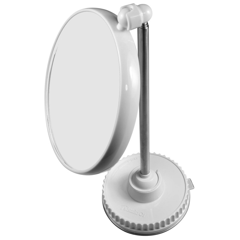 Miroir grossissant original x10 x6 sur pied ou mural for Miroir grossissant x10