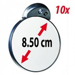 Pequeño espejo de aumento de 10x con luz LED - ZADRO