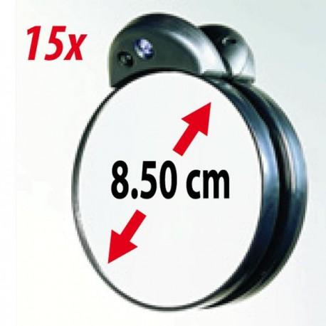 Kleiner Vergrösserungsspiegel 15x mit LED Licht - ZADRO