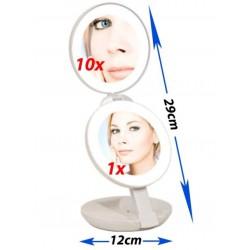 Doble espejo de viaje de 1x y 10x Nueva Generación ZADRO
