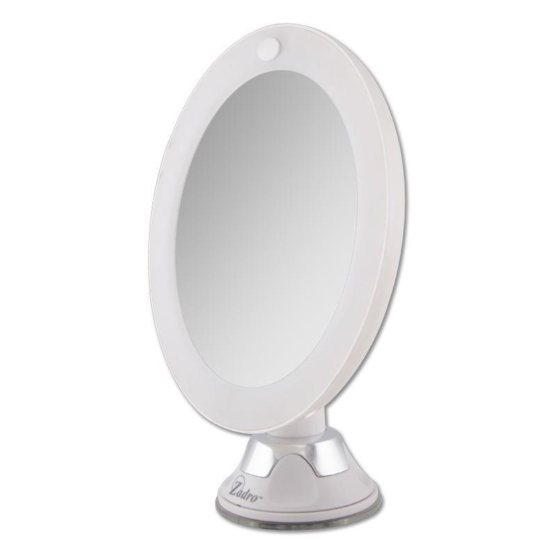 Miroir mural grossissant lumineux mirror x7 miroir for Miroir lumineux castorama
